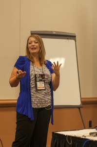 donna talarico at conference speaking