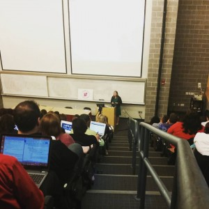 Donna speaking in lecture hall at NEPA blog con 2015