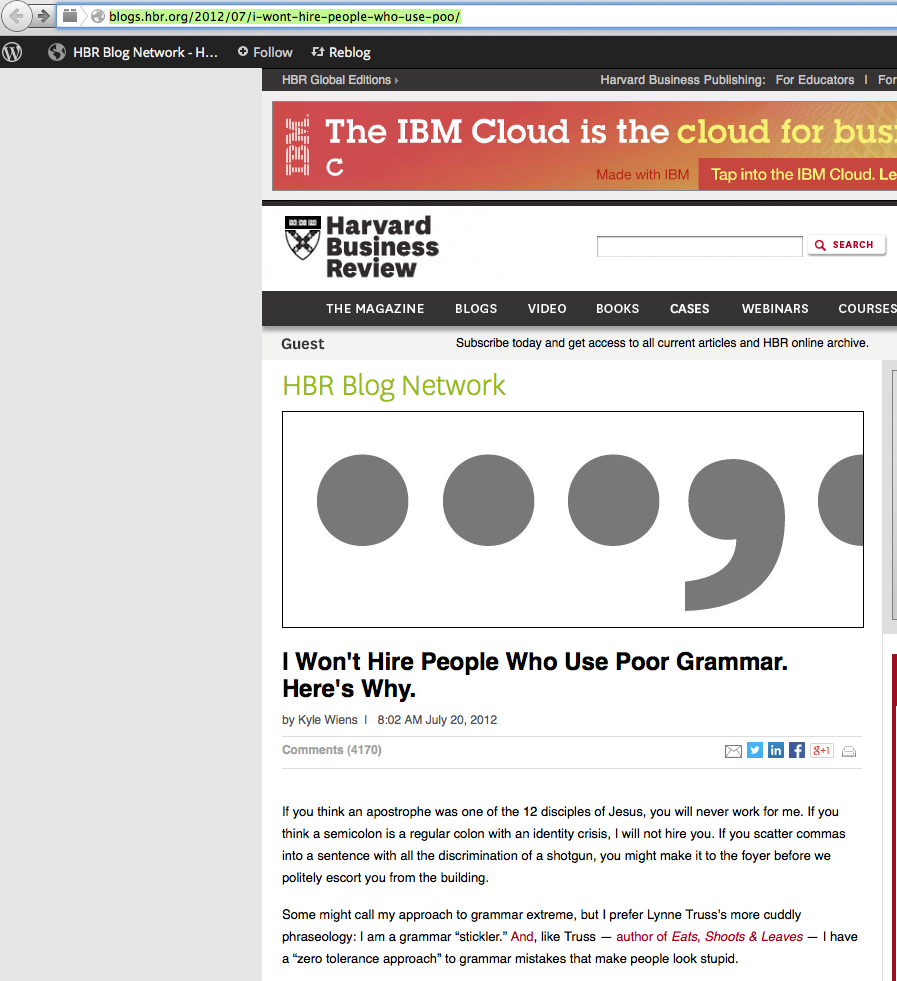 screen shot of article that shows full headline and chopped off name in URL