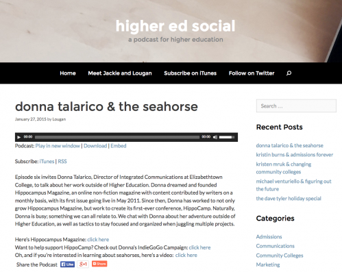 screen shot donna talarico and the seahorse