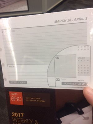 2017 calender pages